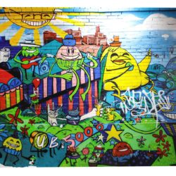 Hôtel Linko - Tableau street art